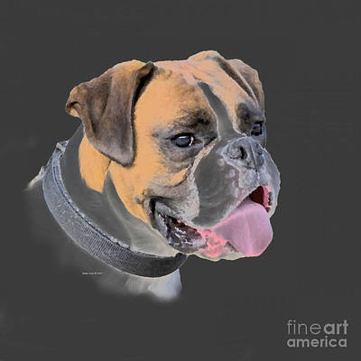 Painting - Boxer Dog Portrait  by Annie Zeno