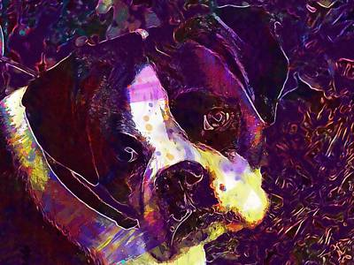 Boxer Puppy Digital Art - Boxer Dog Puppy  by PixBreak Art