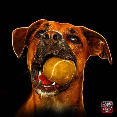 Digital Art - Boxer Mix Dog Art - 8173 - Bb by James Ahn