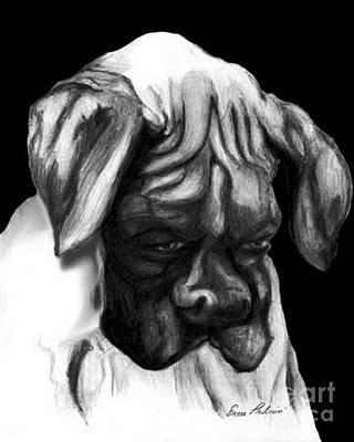 Boxer Puppy Art Print by Enzie Shahmiri