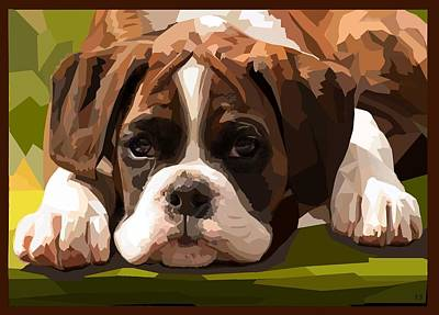 Boxer Puppy Digital Art - Boxer Puppy by Romilda Bozzetti