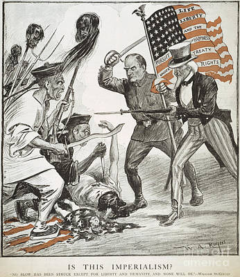 Anti Immigrant Photograph - Boxer Rebellion Cartoon by Granger