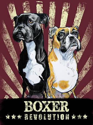 Drawing - Boxer Revolution by John LaFree