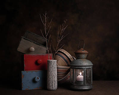 Wood Box Photograph - Boxes And Bowls by Tom Mc Nemar