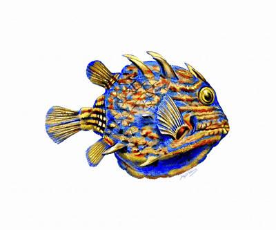 David Wagner Painting - Boxfish II by David Wagner