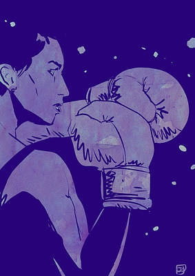 Boxing Club 2 Art Print by Giuseppe Cristiano
