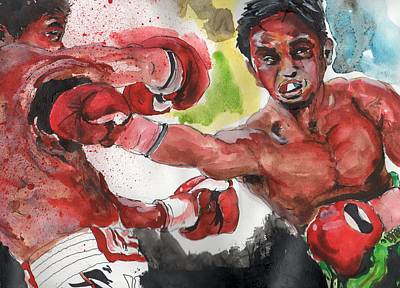 Boxing Fury Art Print by Matt Burke