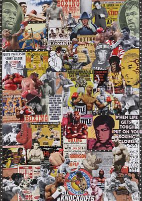 Knockout Mixed Media - Boxing by Marijo Communier