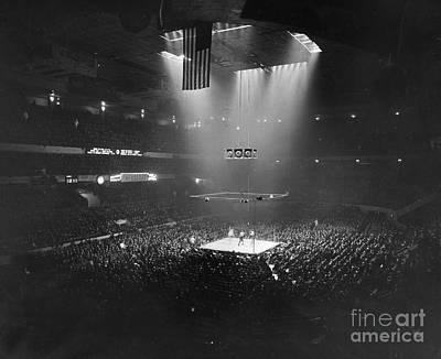 Spectators Photograph - Boxing Match, 1941 by Granger