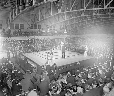 Boxing Match In 1916 Art Print by American School