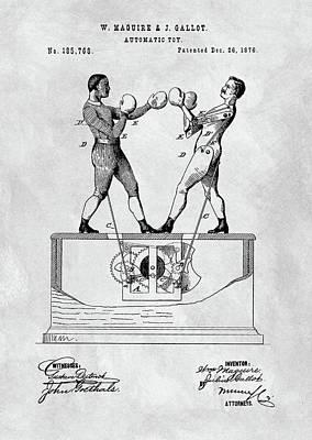 Boxing Toy Patent  Art Print
