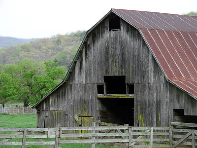 Photograph - Boxley Valley Barn by Mary Halpin