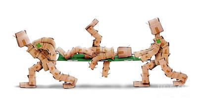 Boxmen With Patient On Stretcher Art Print by Simon Bratt Photography LRPS