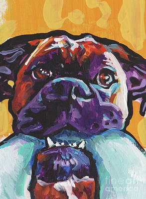 Boxer Dog Painting - Boxy Boxer by Lea