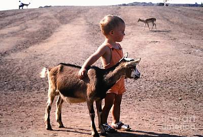 Photograph - Boy And A Goat by Rosanne Licciardi