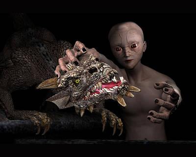 Photograph - Boy And Dragon by Carlos Diaz