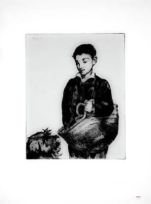 Boy And His Dog Going To Market Art Print