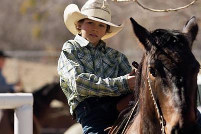 Photograph - Boy And Horse by John Swartz