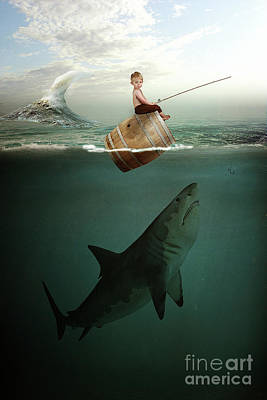 Photograph - Boy And Shark by John Herzog