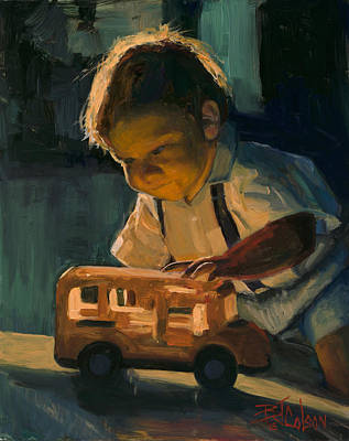 Painting - Boy And Their Toys by Billie Colson