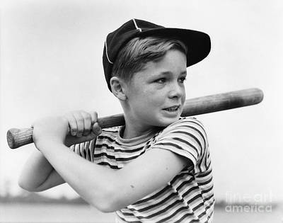 Boy At Bat, C.1930s Print by H. Armstrong Roberts/ClassicStock