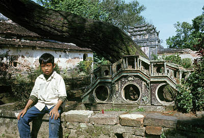 Photograph - Boy At The Imperial City In Hue #1 by Robert Holden