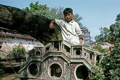 Photograph - Boy At The Imperial City In Hue #2 by Robert Holden