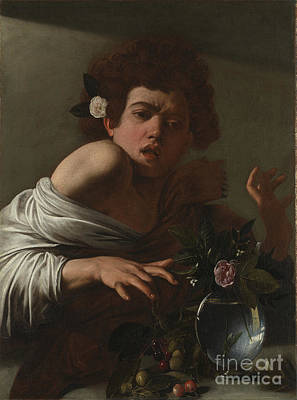 Caravaggio Painting - Boy Bitten By A Lizard by Celestial Images