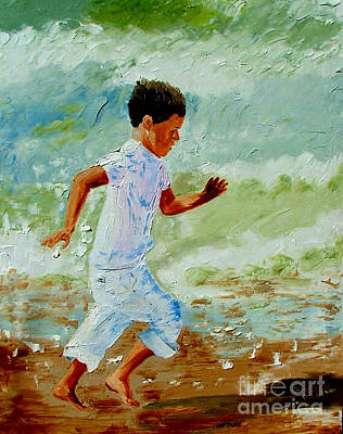 Boy By The Sea Art Print by Inna Montano
