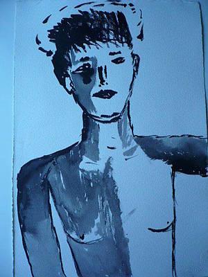 Boy Drawing - boy by Christopher Pekarik