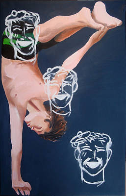 Painting - Boy Diver With 3 Tam-o-shanters by Geoff Greene