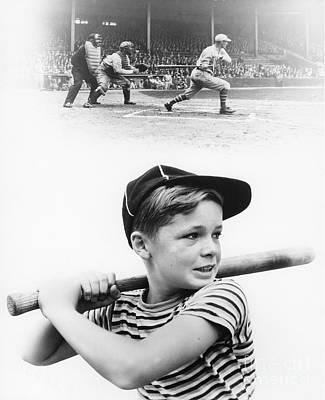 Ambition Photograph - Boy Dreams Of Baseball, C.1930s by H. Armstrong Roberts/ClassicStock