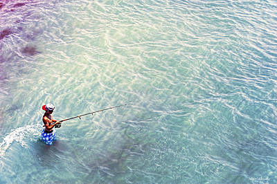 Photograph - Boy Fishing by Glenn Gemmell