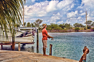Photograph - Young Man Fishing In The Florida Keys by Ginger Wakem