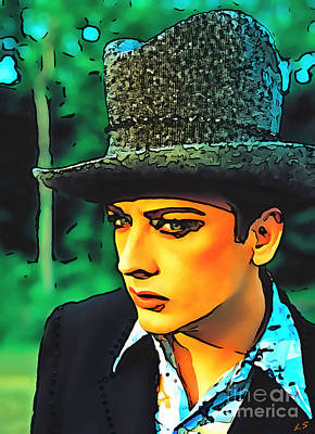 Drawing - Boy George Collection - 2 by Sergey Lukashin