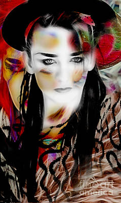Boy George Mixed Media - Boy George Collection by Marvin Blaine