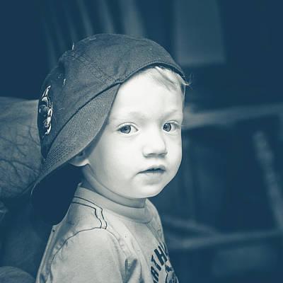 Photograph - Boy In A Sideways Baseball Cap by Joni Eskridge