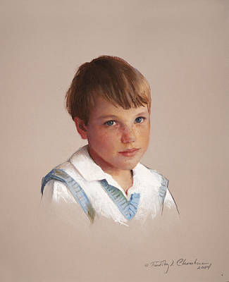 Painting - Boy In Blue by Timothy Chambers