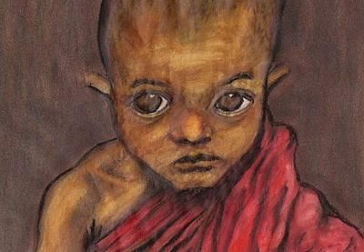 Boy In Burma Art Print by Jean Haynes