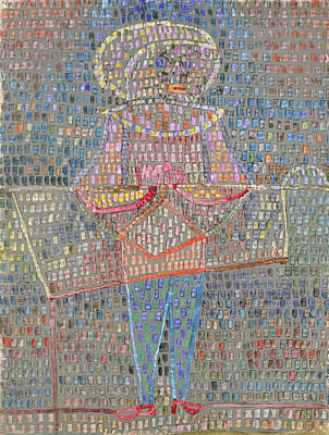 Dot Painting - Boy In Fancy Dress by Paul Klee