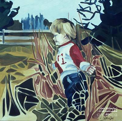 Boy In Grassy Field Art Print