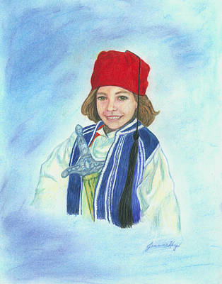 Painting - Boy In Greek Costume by Jeanne Kay Juhos