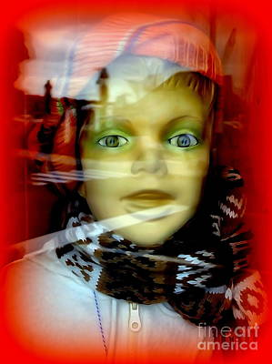 Digital Art - Boy In Scarf by Ed Weidman