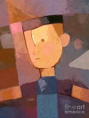 Painting - Boy by Lutz Baar