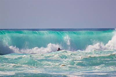 Waves Photograph - Boy Meets Wave  by Kimberly Reeves