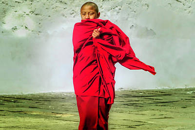 Photograph - Boy Monk by Pravine Chester