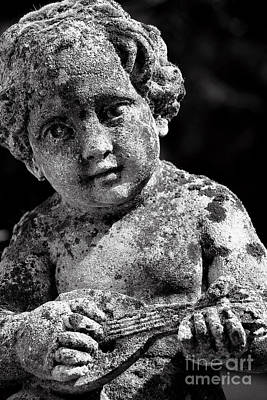 Photograph - Boy Musician Statue by Sue Harper