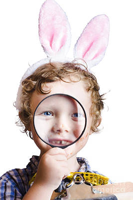 Rabbit Hunting Photograph - Boy On Easter Hunt by Jorgo Photography - Wall Art Gallery
