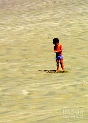 Photograph - Boy On The Beach by Randall Weidner
