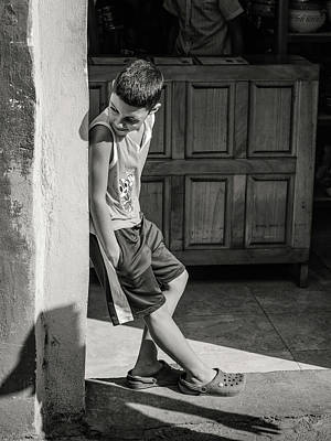 Photograph - Boy On The Corner by Robin Zygelman